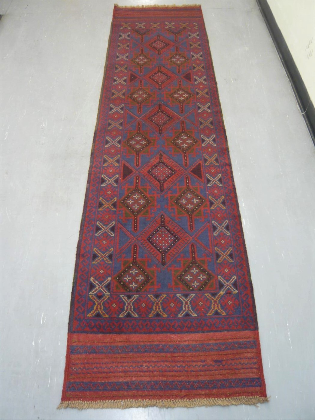 Afghan Tribal Kelim Runner 9' 219114