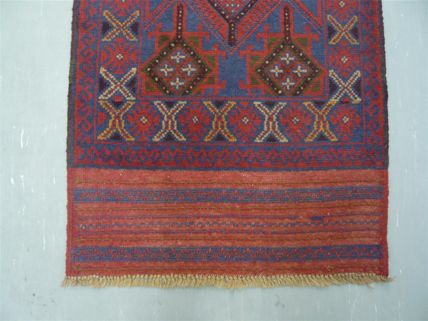 Afghan Tribal Kelim Runner 9'
