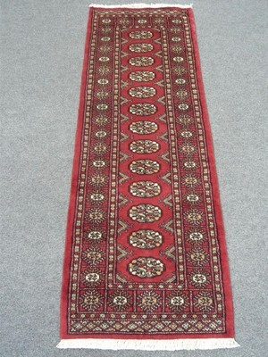 Pakistan Bokhara Runner 6' Red Sold.
