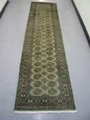 Pakistan Bokhara Runner 10' Green Sold.