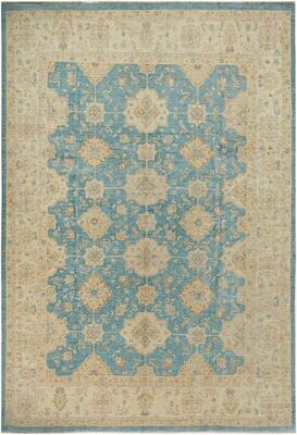 Fine Afghan Natural Dyed Rug Blue