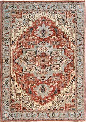 Fine Afghan Rug Heriz Design
