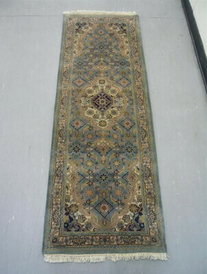 Indian Chakhari Runner 6'1 Lt Blue/Cream