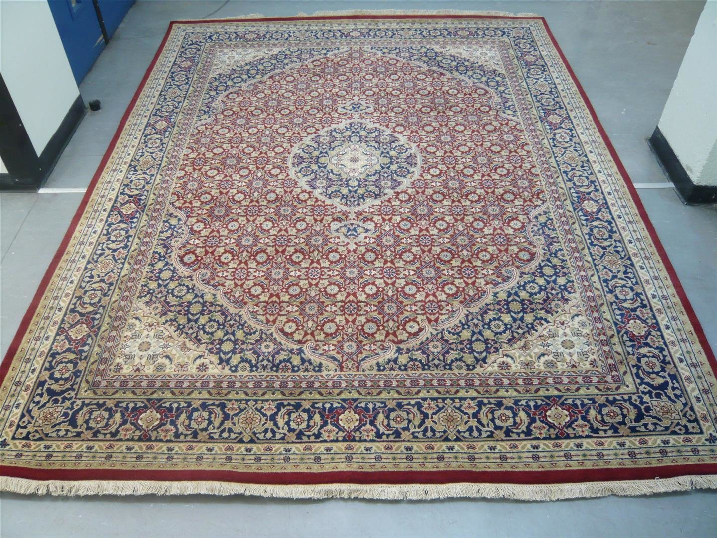 Indian Chakhari Rug Red/Blue