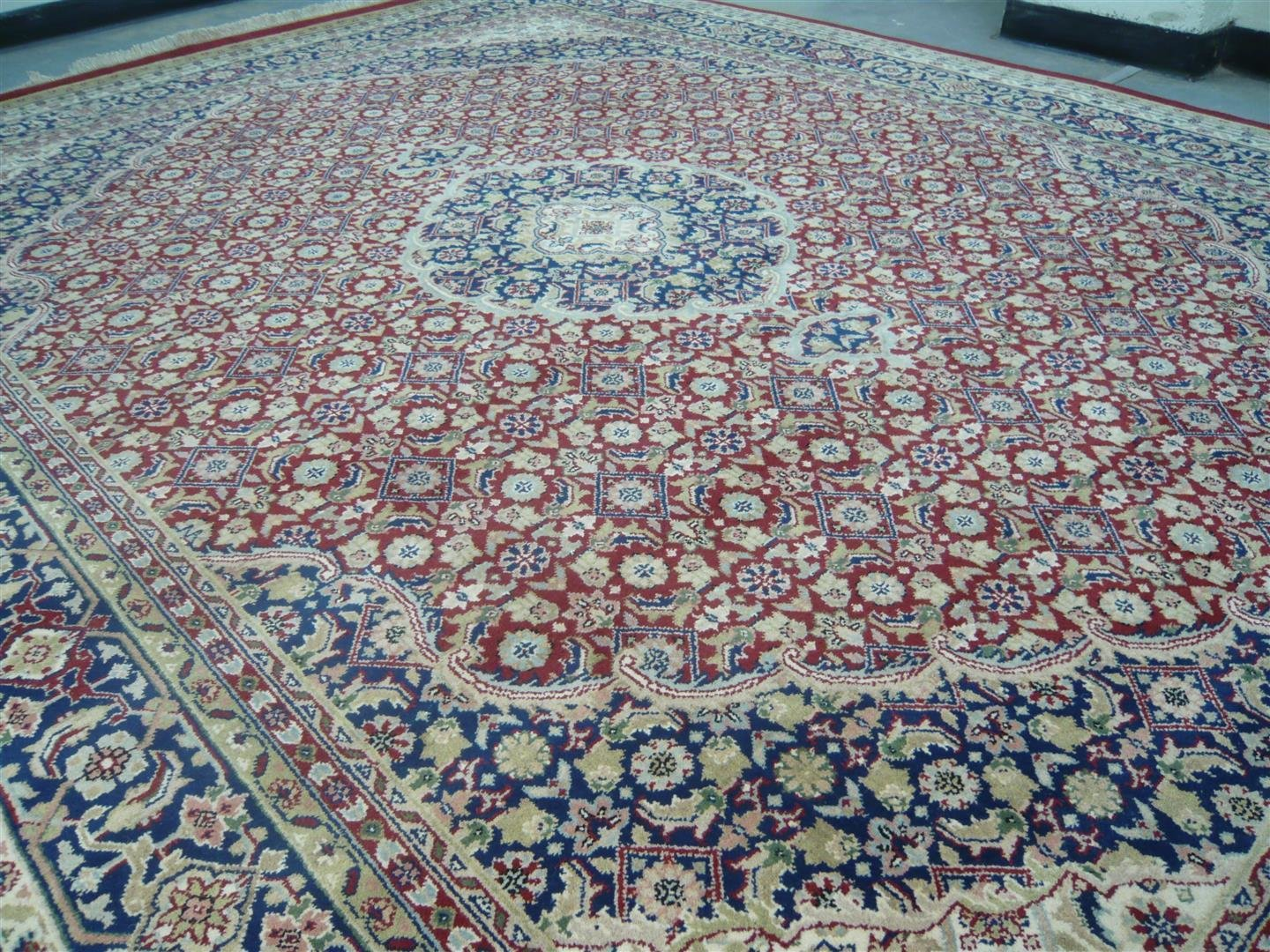 Indian Chakhari Rug Red/Blue Sold.