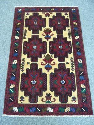Afghan Tribal Rug Half Price