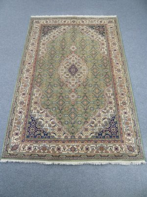 Indian Chakhari Rug Green/Cream