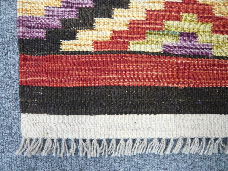Finely Woven Wool Kilim