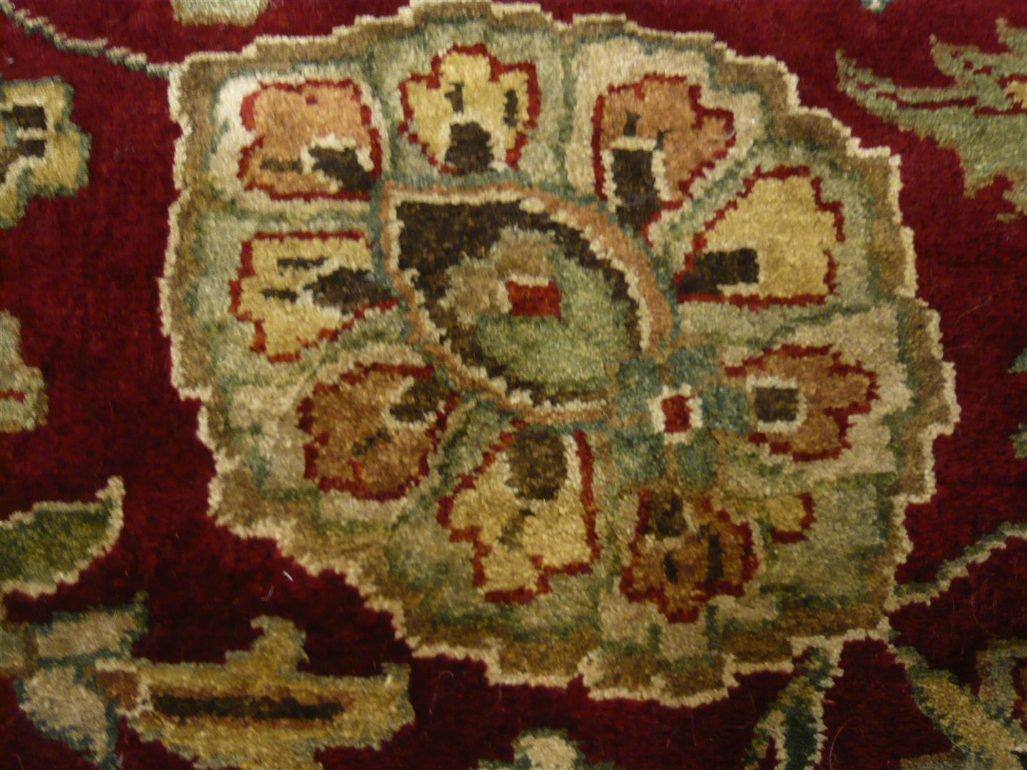 Very Fine Indian Wool/Silk Rug