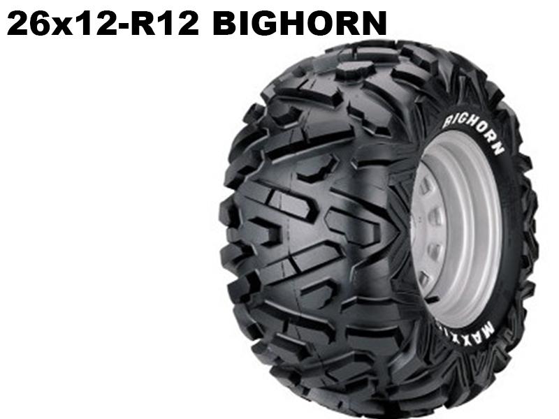 Maxxis ATV 26x12 - R12  Bighorn 14312