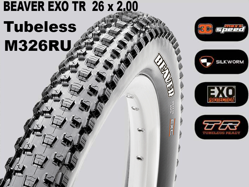 Maxxis Tubeless Beaver + EXO TR Foldable 14370 / TB68601100