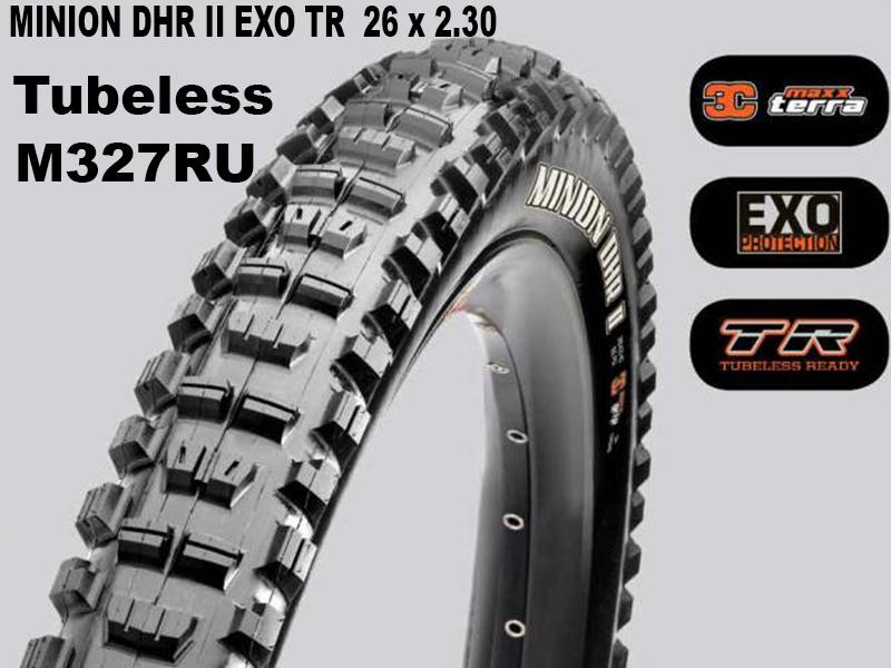 Maxxis Tubeless Minion DHR II + EXO TR Foldable 14373 / TB73303000