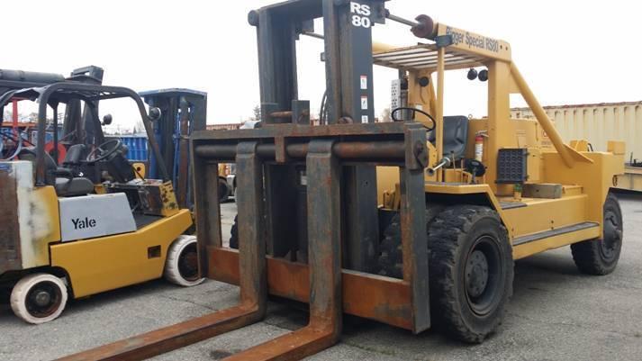 80,000lb Bristol Riggers Forklift - Fork Truck For Sale