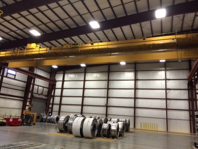 30 Ton P & H Overhead Bridge Crane with 100' Span For Sale