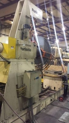 30,000lb. Perfecto Coil Reel & Straightener Feeder For Sale