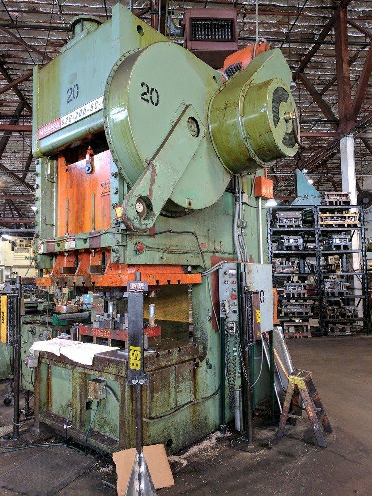 200 Ton Capacity Niagara Gap Frame Press For Sale 200tNiagaraGFPressFS