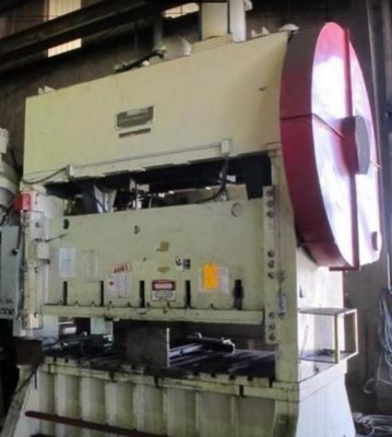 150 Ton Capacity Johnson Straight Side Press For Sale