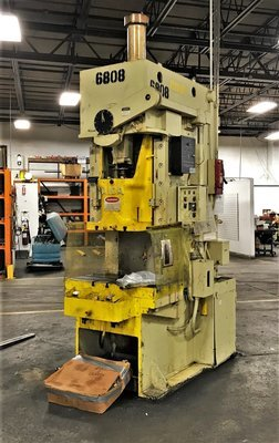 75 Ton Capacity Aida Single-Point Gap Frame Press For Sale