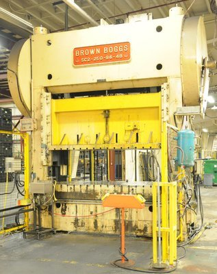 250 Ton Capacity Brown & Boggs Straight Side Press For Sale