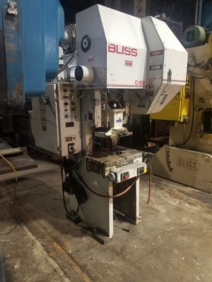 22 Ton Capacity Bliss O.B.I. Press For Sale