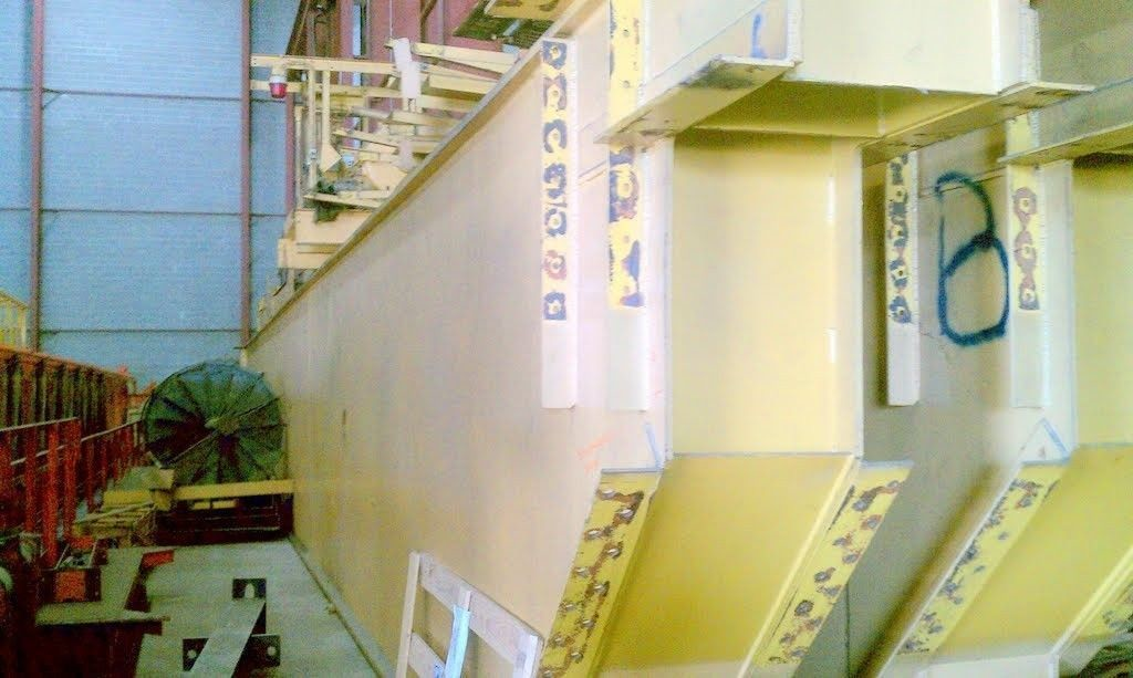 200 Ton Whiting Overhead Bridge Crane with 50 Ton Auxiliary Hook For Sale