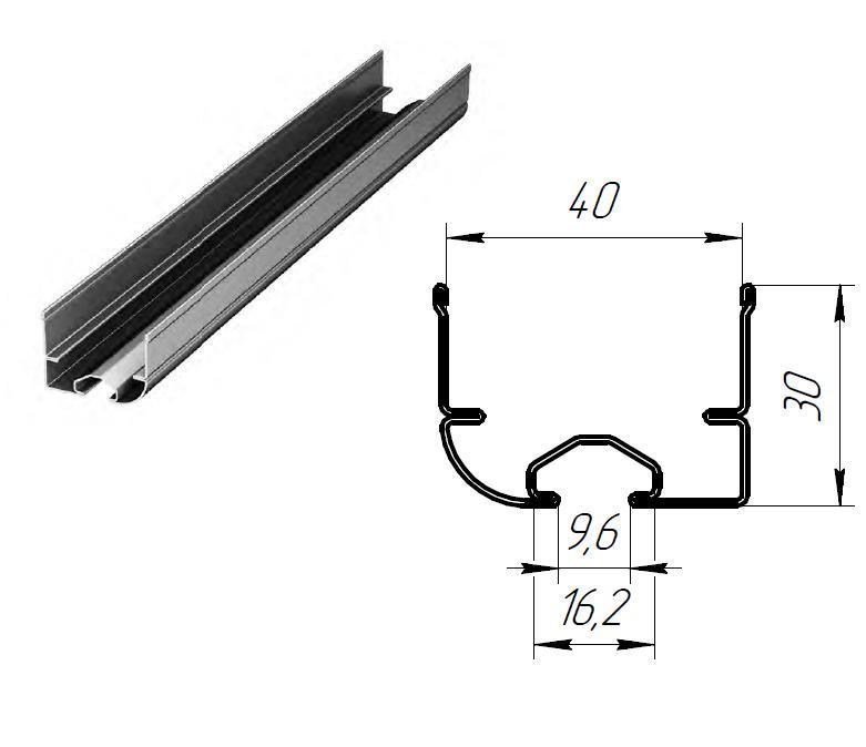 Изгиб стальной для ролика ф38 СВАРНОЙ с П-образным кронштейном модернезированный (пара) 11589