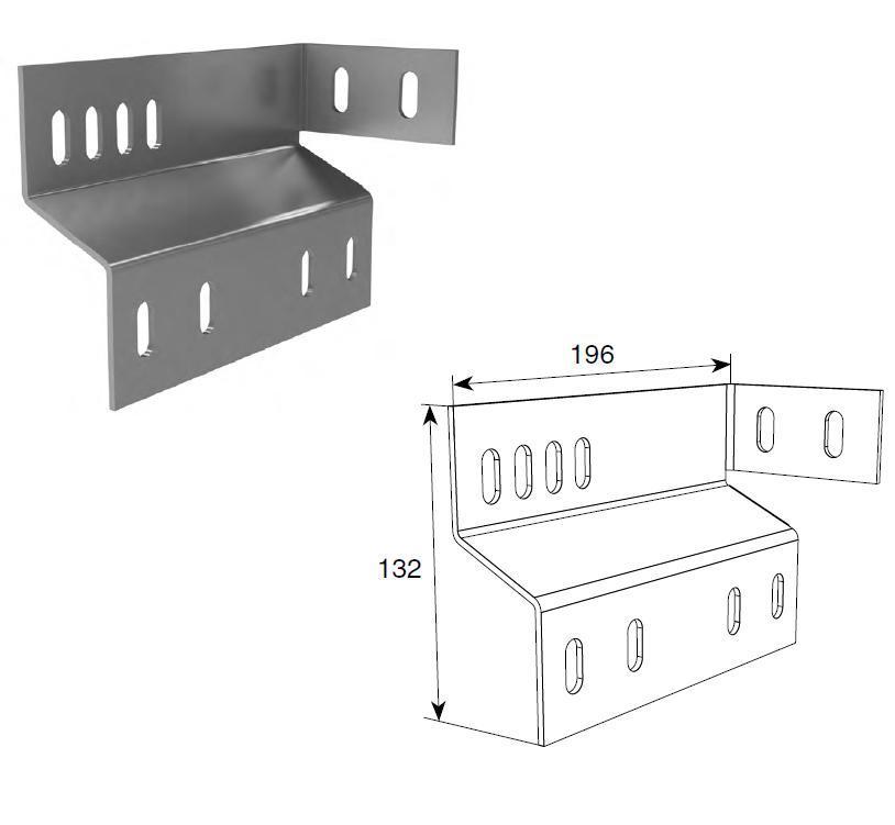 Пластина соединительная концевого кронштейна с угловой стойкой (пара) 11610