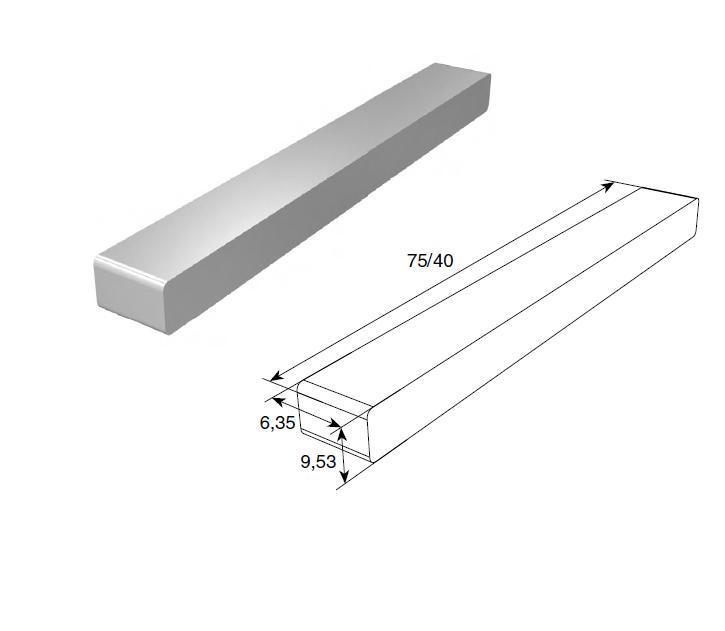 Шпонка (6,35х 6,35х100 мм) (шт.) 11642