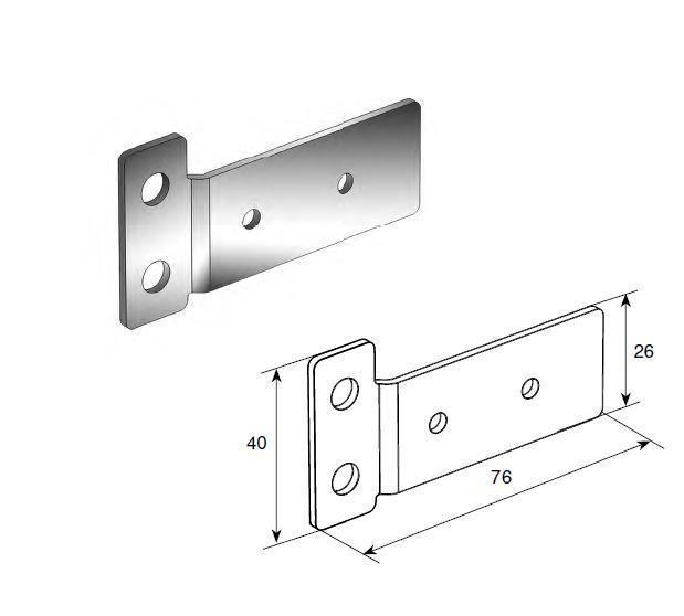 Пластина крепления ригеля Compact (пара) 11670