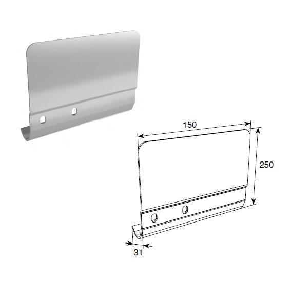 Соединительная пластина 250 мм для вертикальных направляющих 11675