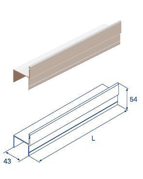 """Алюминиевый профиль для калитки """"Ц""""-образный металлик 11164"""
