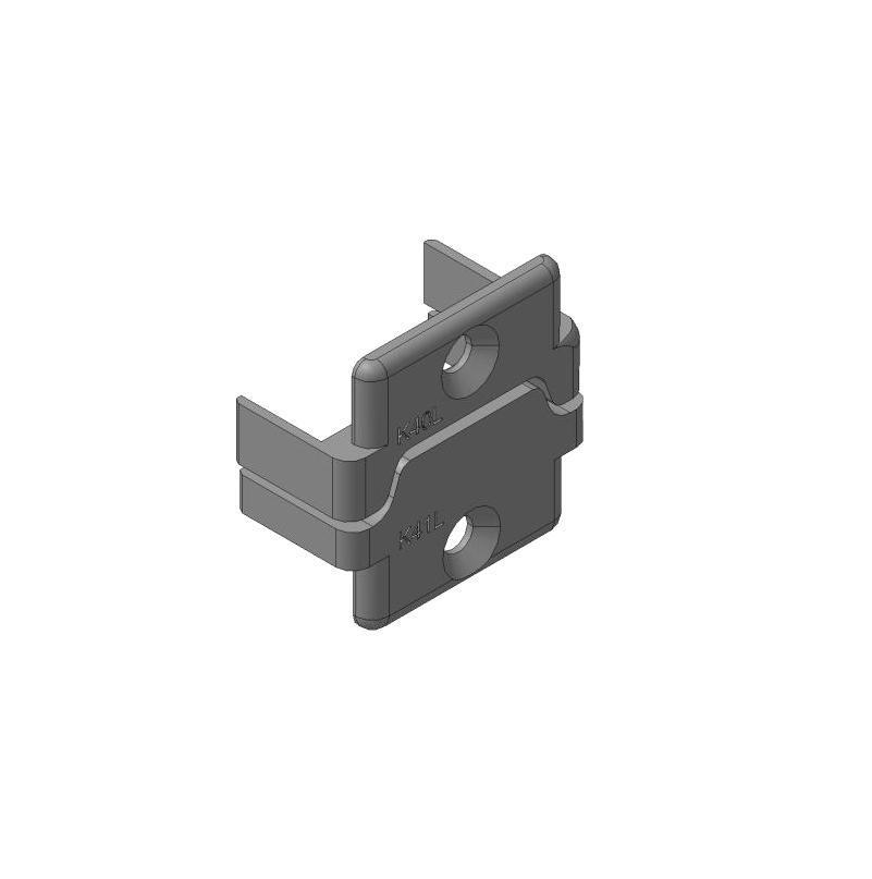 Заглушки алюминиевых П-профилей створки калиток секционных ворот (Петли слева, права) 11700