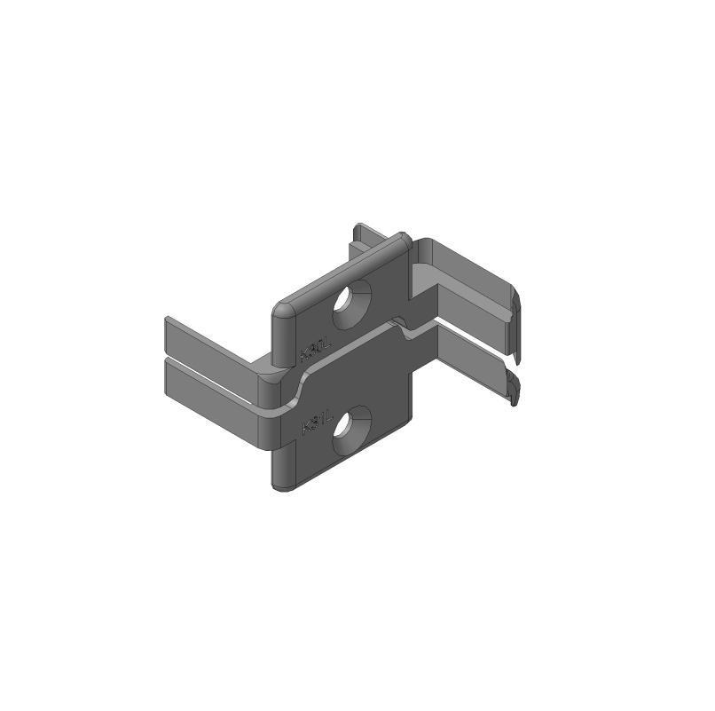 Заглушки алюминиевых Ц-профилей створки калиток секционных ворот (Петли слева, права) 11701
