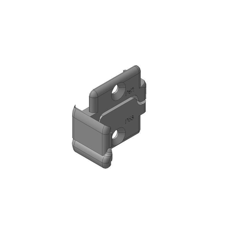 Заглушки алюминиевых Ц-профилей для проема калитки (правая, левая сторона) 11702