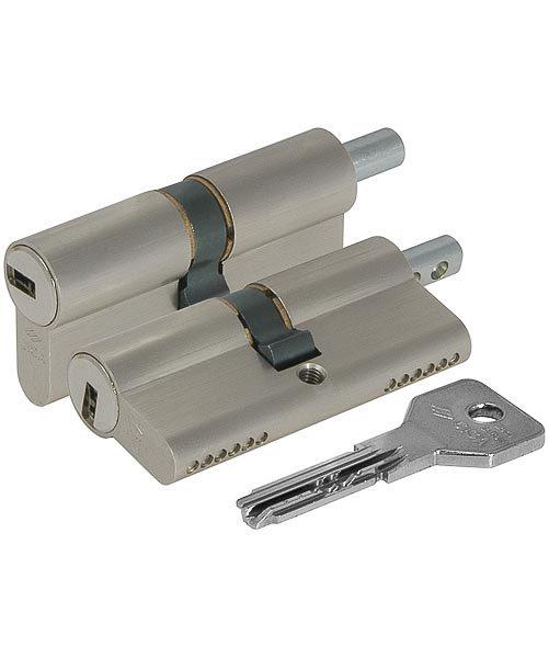 Цилиндровый механизм Cisa (Чиза) под вертушку ASIX OE302-43.12 (100 мм/40+10+50), НИКЕЛЬ 11935