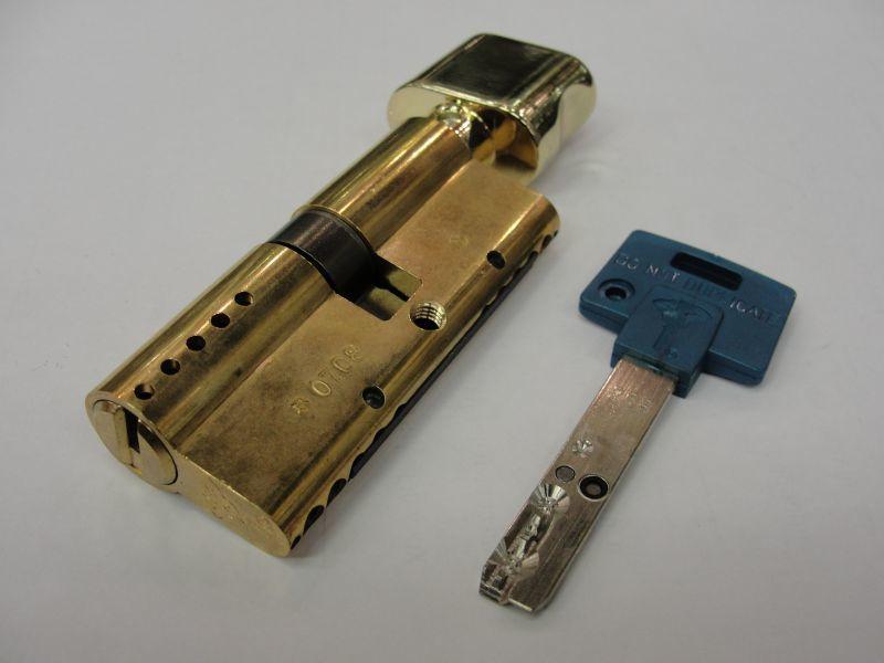 Цилиндр INTER L120 ТФИ усилен.латунь (50Тх70) Мультилок 11952