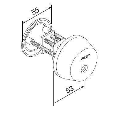 Цилиндр односторонний Abloy CY037C/111005