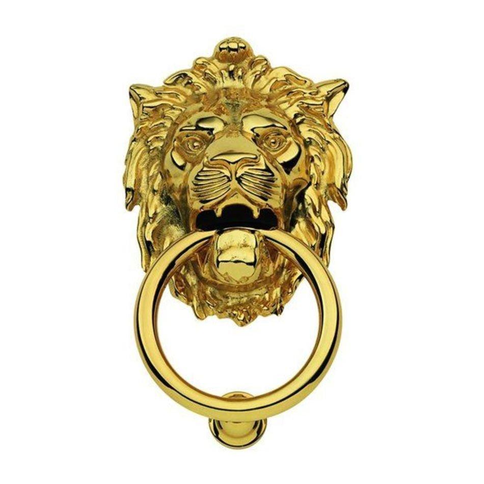 Дверное кольцо 2152 Лев Mr латунь MARTINELLI 11970