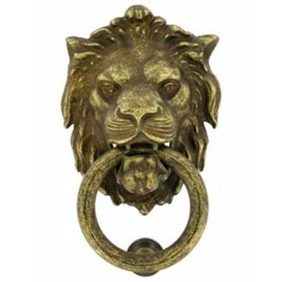 Дверное кольцо 2152 Лев Mr ант.бронза RTINELLI
