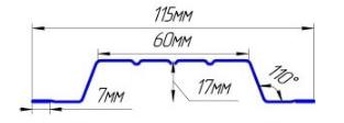 Евроштакетник оцинкованный П-образный широкий
