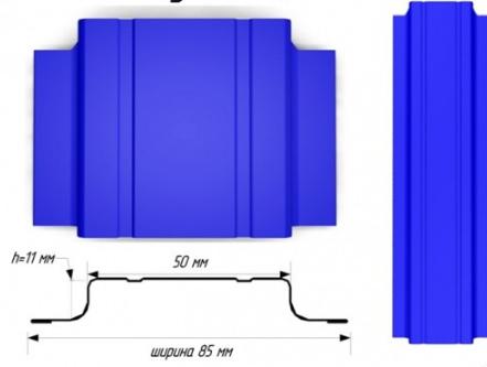 Евроштакетник  полиэстер П - образный узкий 11724