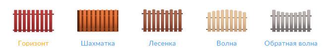 Евроштакетник стальной бархат П-образный узкий
