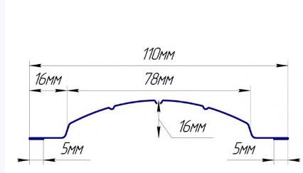 Евроштакетник  полиэстер двухстороннее покрытие фигурный полукруглый
