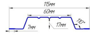 Евроштакетник стальной бархат П-образный широкий