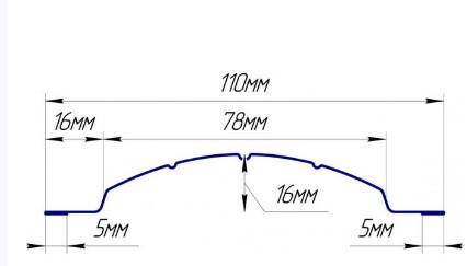 Евроштакетник стальной бархат фигурный полукруглый