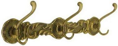 Вешалка БАРОККО, 3 двойных крючка, размер 10х40 см, арт.00102, STILARS 11991