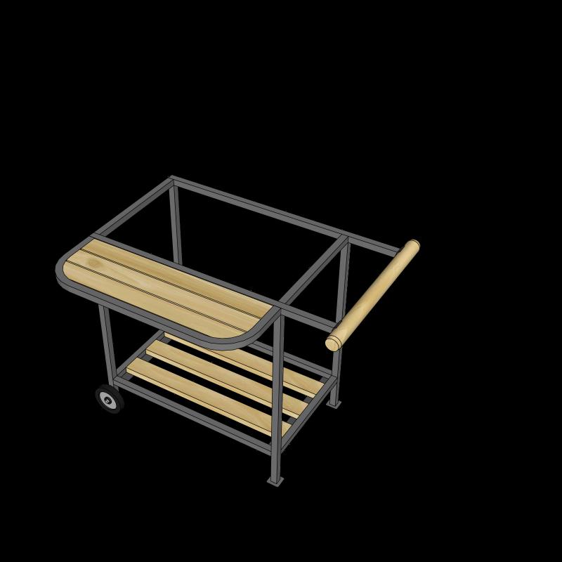 Подставка с колесиками А-4 (мангал M550; ML550 )