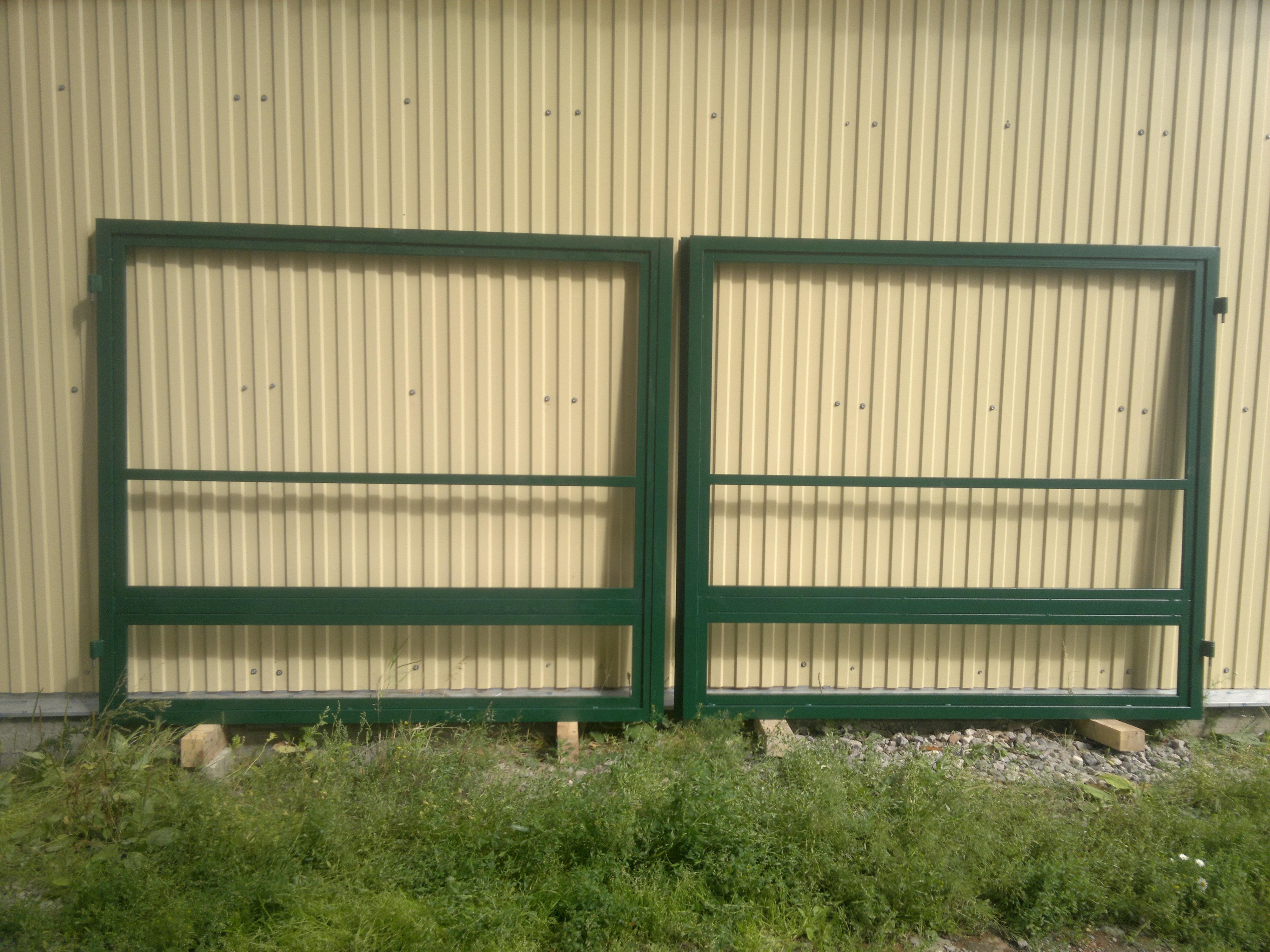 Каркас распашных ворот без заполнения  4000 х 2000 (без окраски)