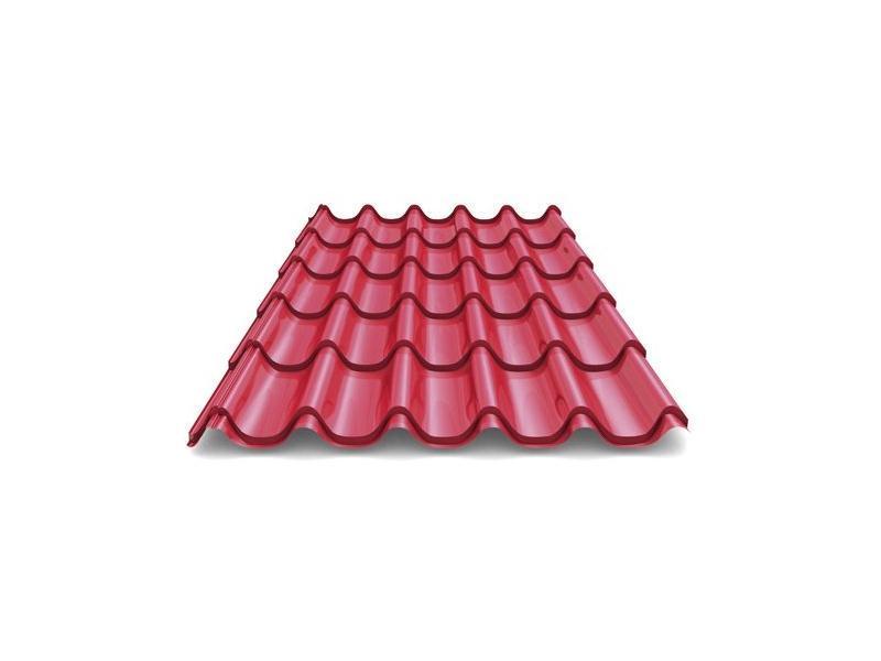 МЕТАЛЛОЧЕРЕПИЦА Стандарт полиэстер одностороннее 0,50 мм цвет  3005, 6005, 8017. 12192