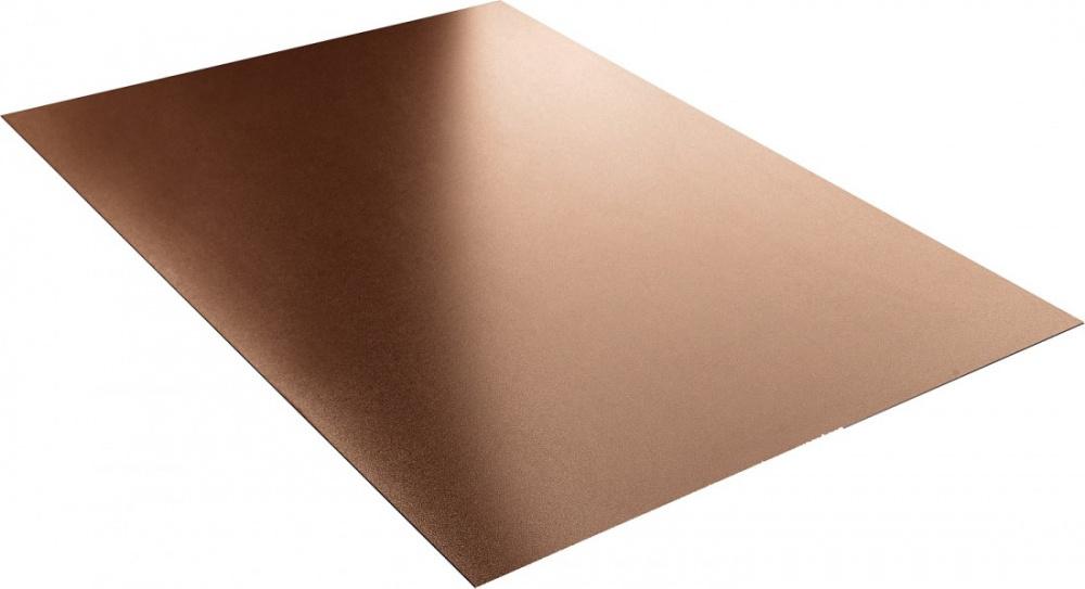Гладкий лист стандарт полиэстер двухстороннее 0,45 мм цвет по каталогу RAL 1015, 3005, 5002, 6005, 7024, 8017, 903. 12199